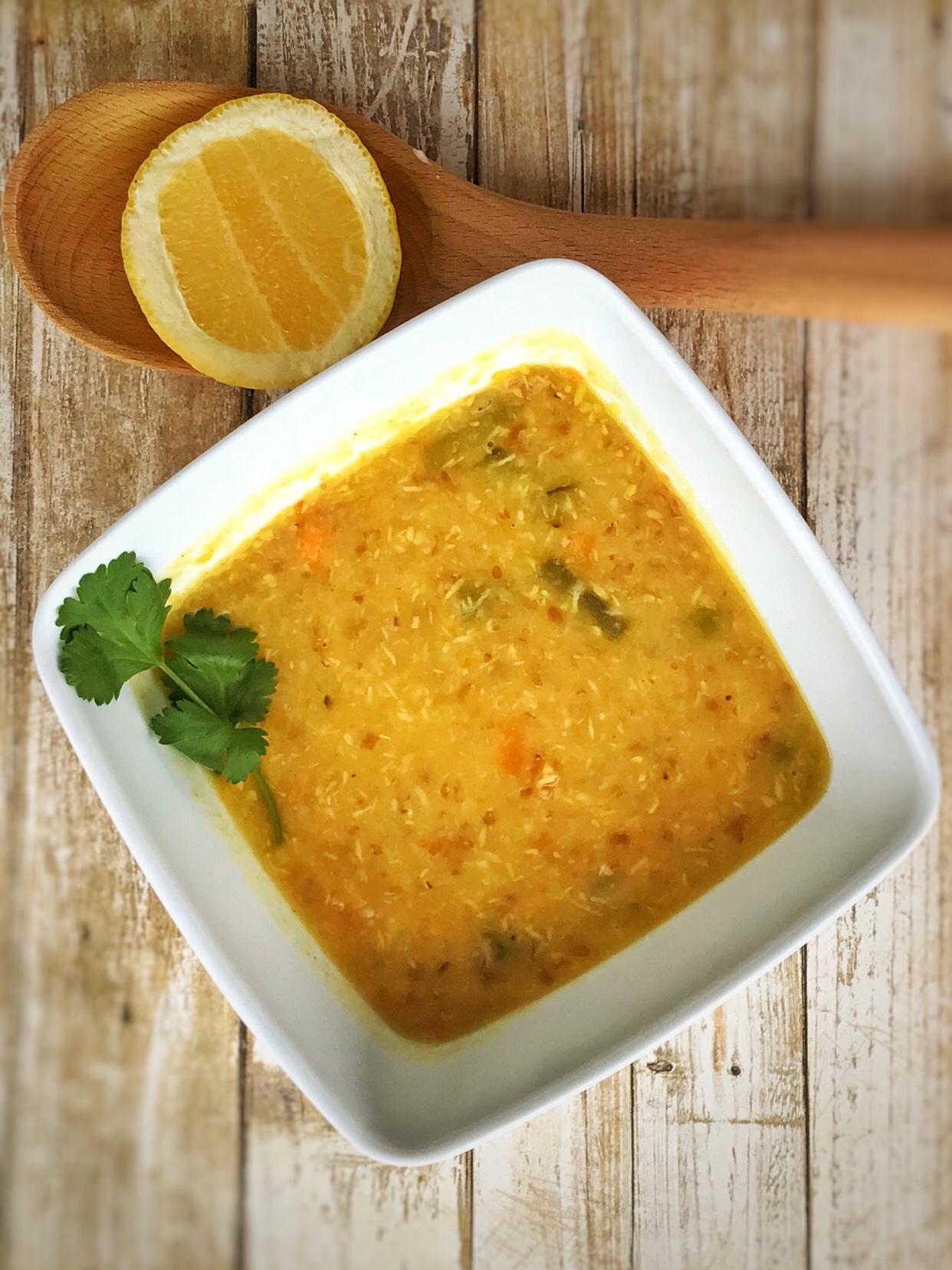Mulligatawny-ish soup with Bulgur