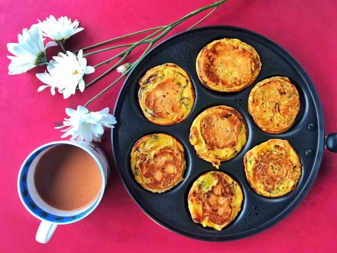 Savory Chickpea Flour & Coleslaw Mix Pancakes